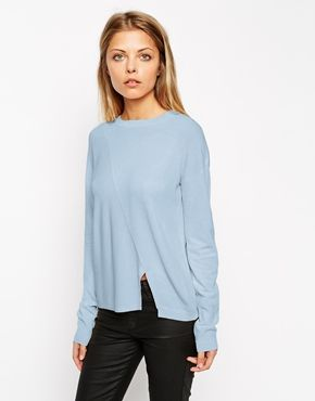 ASOS+Jumper+In+Structured+Knit+With+Seam+Detail