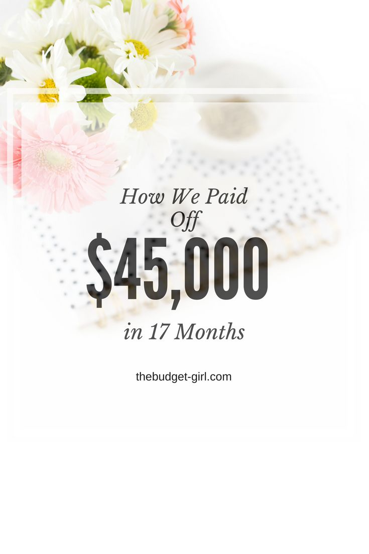 How we paid off $45,000 in debt in 17 months by following the Dave Ramsey plan. Learn how to budget and stick to it. how to make a budget, how to budget and stick to it, how to save money, how to payoff debt, paying off debt, paying off student loans