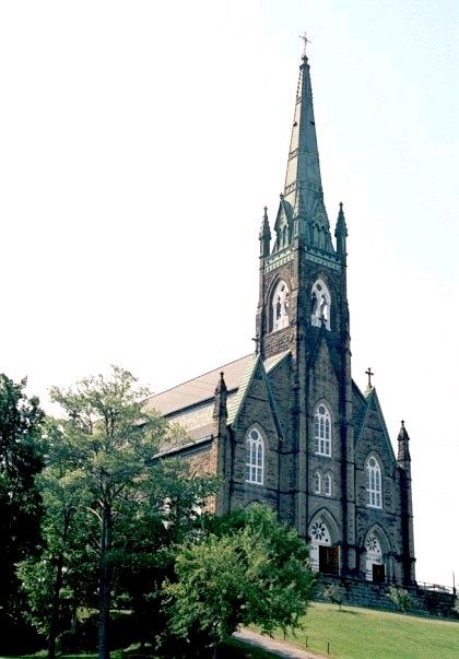 St. Micheals in Miramichi, NB.  This catherdral is absolutely beautiful! I went to St Michaels Jr High.