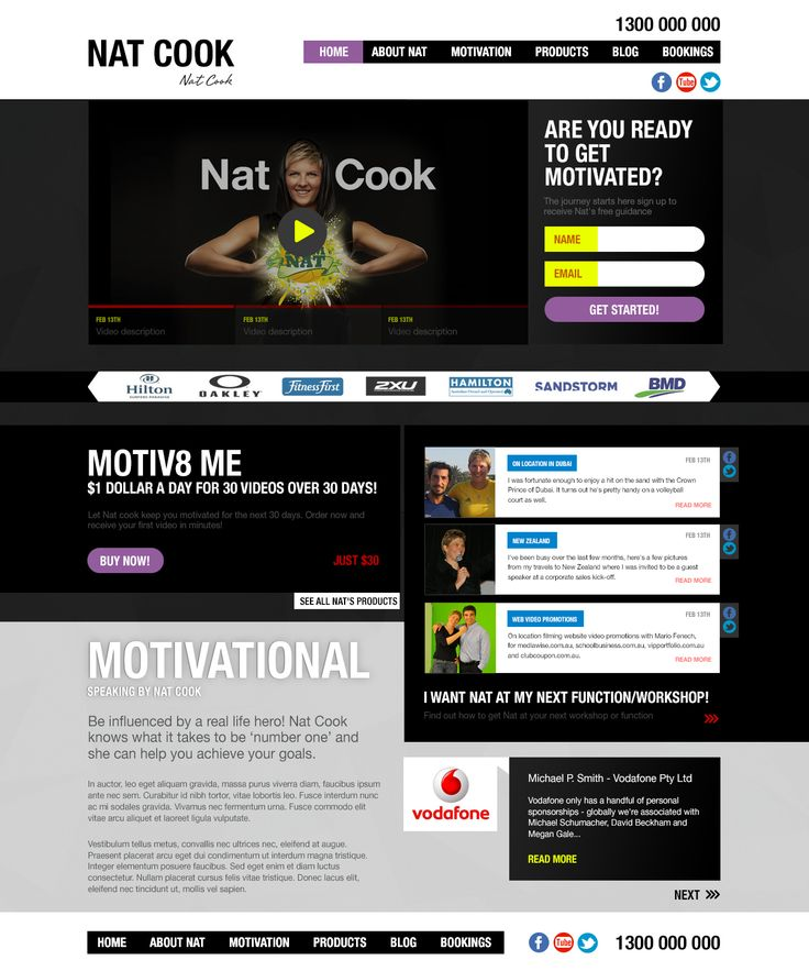 Nat Cook Original web site design concept