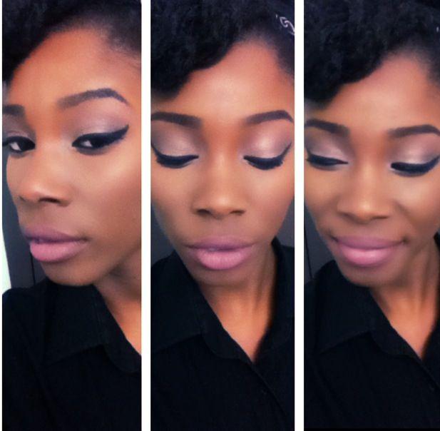 pink makeup dark skin mac snob lipstick pink eyeshadow