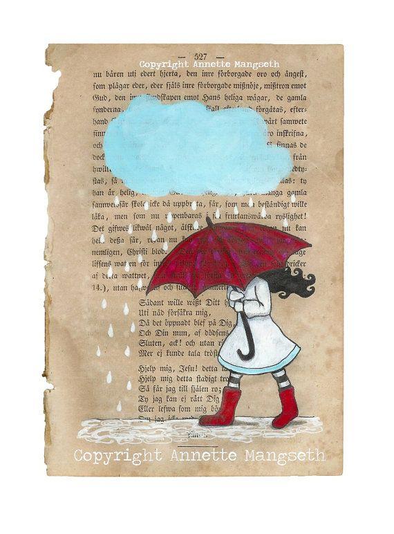 Mon parapluie rouge - Print