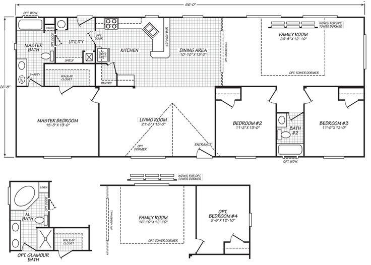 62 best floor plans images on pinterest floor plans for Monster mansion mobile home floor plan