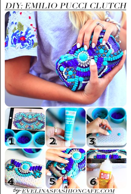 DIY: Clutch de Pucci www.dolcetirreno.blogspot.com