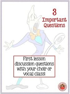 First lesson idea for your middle school or high school choir or vocal class!  #musiceducation   #musedchat