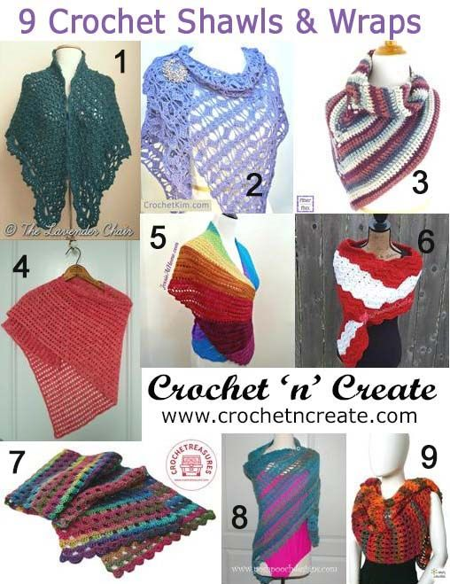 9 Free crochet patterns | for shawls and wraps | #crochet
