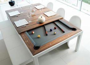 Tavolo trasformabile in biliardo per divertirsi con gli amici