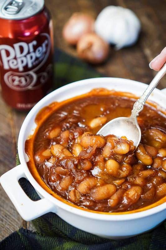 вегетарианская рецепт идеи Dr Pepper запеченные бобы