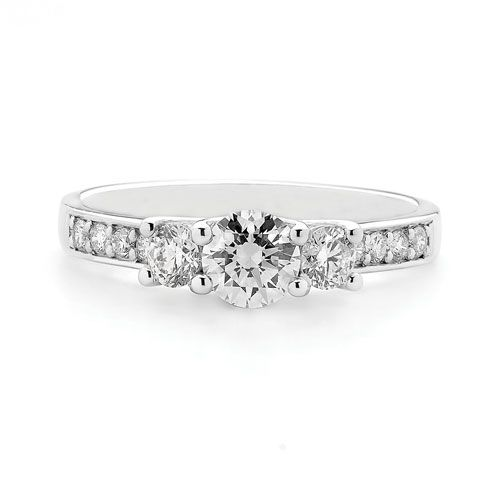 18ct Diamond Trilogy Ring 0.76ct TDW – Leske's Jewellers - Shop our jewellery store in Port Fairy - Victoria, Australia.