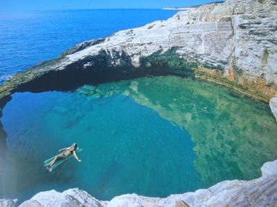 natural pool, Thasos, Greece