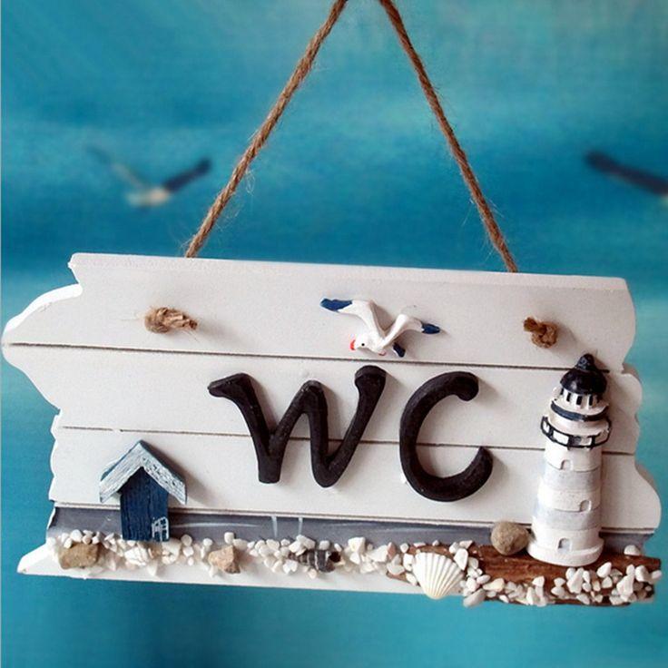 В средиземноморском стиле северные деревянные туалет гонт Doorplate налет войти туалет декоративные аксессуары главная дверь Wood купить на AliExpress