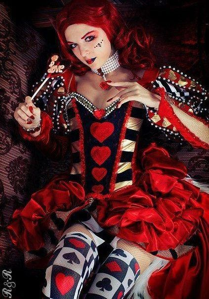 """Queen of Hearts Cosplay, Not from an actual film I know of but I associate the Queen of Hearts with """"Alice in Wonderland"""""""