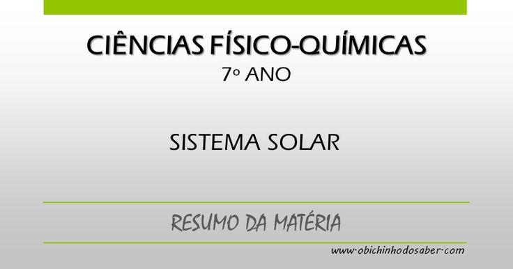 Ciências Físico-Químicas 7º | Sistema Solar
