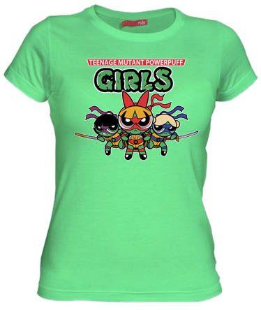 Camiseta Teenage Mutant Powerpuff Girl por Fernando Sala Soler - Dibujos de los 90s - Camisetas Dibujos