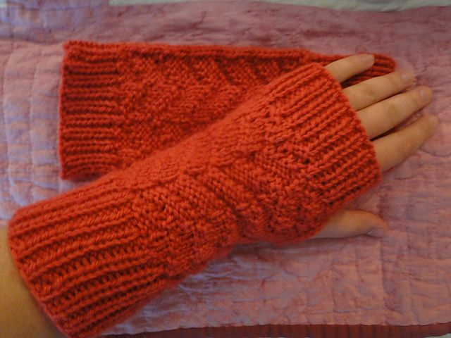 Ravelry Mock Cable Fingerless Mittens Pattern By Naomi