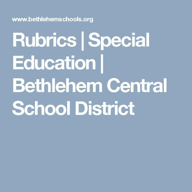 Rubrics | Special Education | Bethlehem Central School District