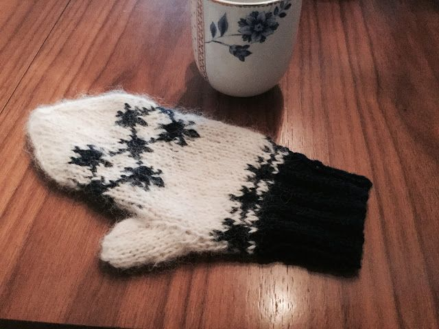Femspann, Mitten, Christmas pattern, Winter, Glove, snowflake