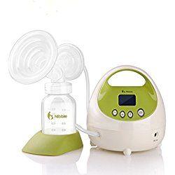 Gland Nibble Electric Single BreastPump for Baby Breastfeeding, BPA Free, Avoid Milk Back Flow,LCD Display,Hospital Grade, Green