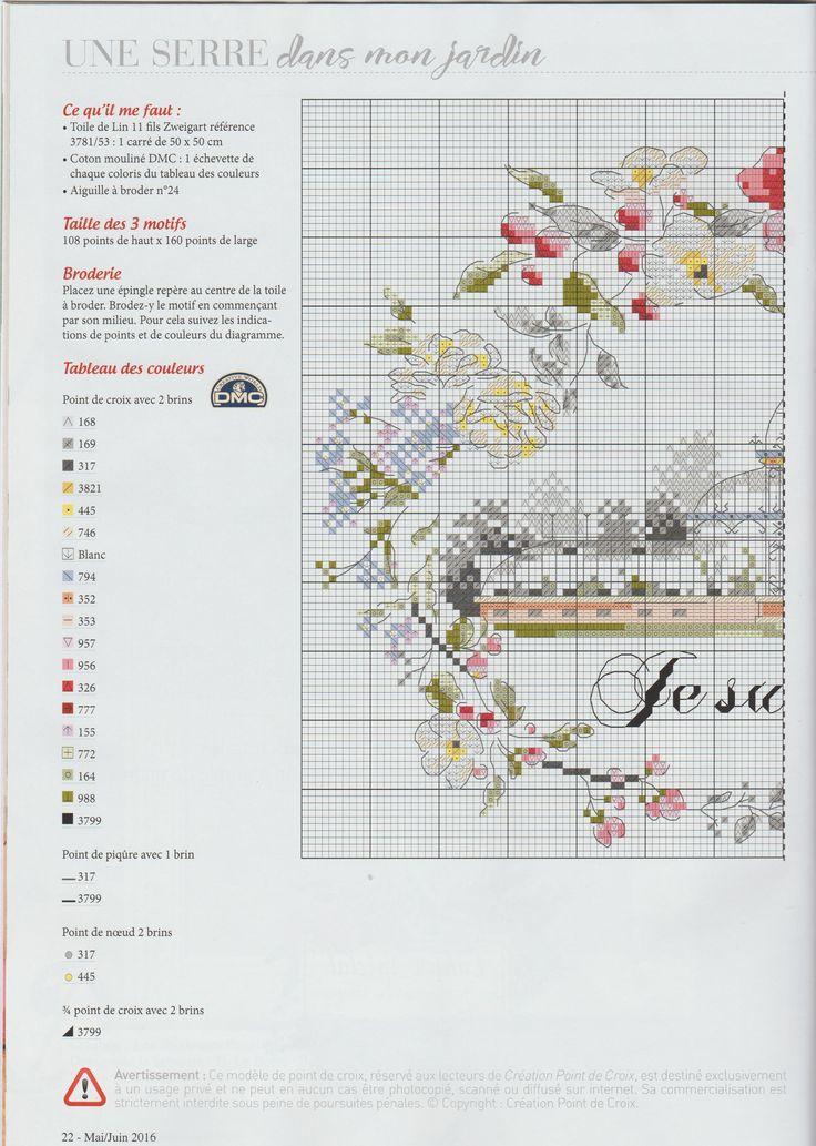 Creation Point de Croix 57 - Helene Le Berre - je suis au jardin / 2/3