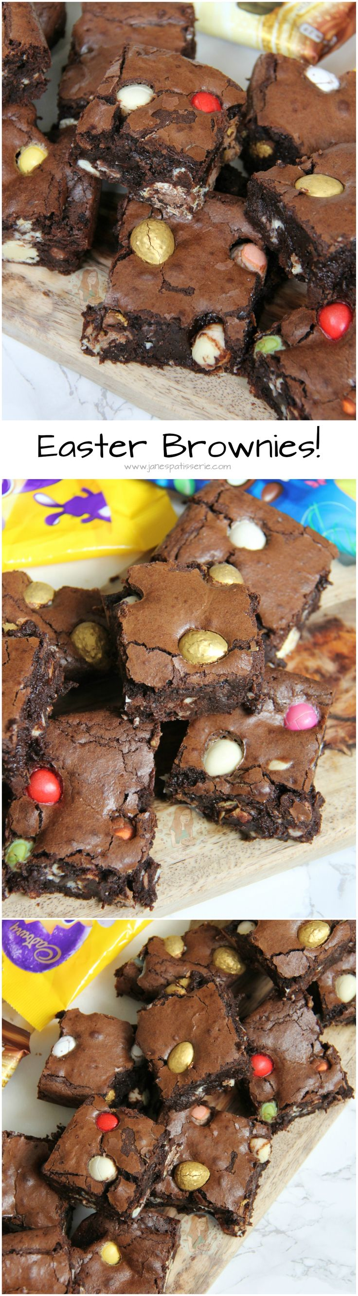 Easter Brownies! ❤️ Perfectly Indulgent Chocolate Easter Brownies – Smartie Eggs, Mini Eggs, Milkybar Eggs, Golden Eggs and more in Gooey Chocolate Brownies.