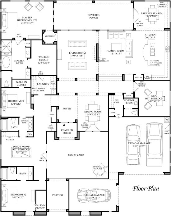 1477 best images about architecture on pinterest 2nd for Courtyard entry house plans
