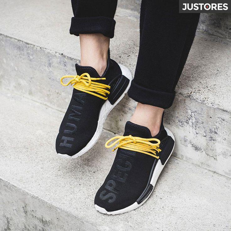 Pharrell Williams Adidas NMD human race running shoes black BB3068
