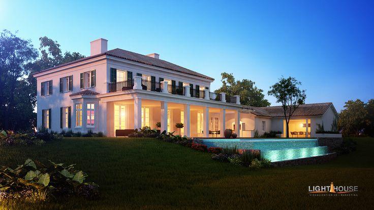 CALIFORNIA HOUSE DUSK