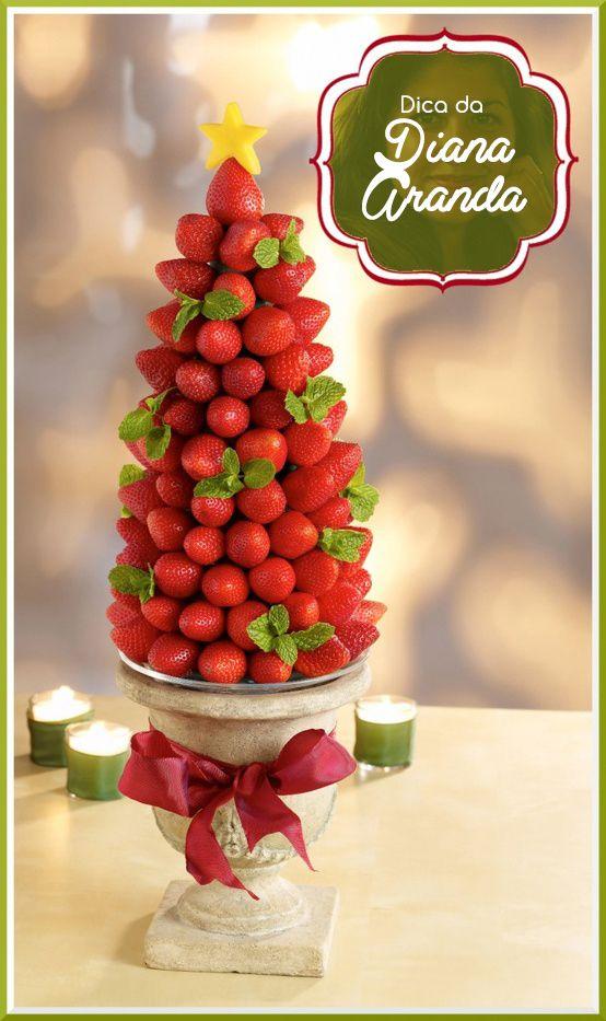 Portal da Festa: Como fazer árvore de natal com morangos