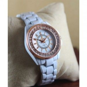 Rolex White Watch For Women (AWL-1015)