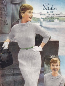 Vintage KNITTING PATTERN 1950's Stunning Wiggle Dress...Wow. Love this!