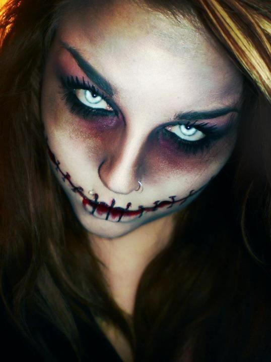 Scary Halloween Face Makeup