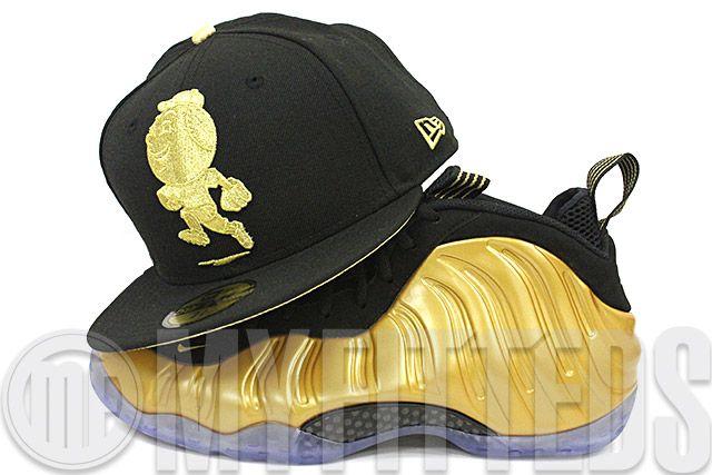 New York Mets Mr. Met Black Metallic Gold Gold Foamposite Gold Pack New Era Hat