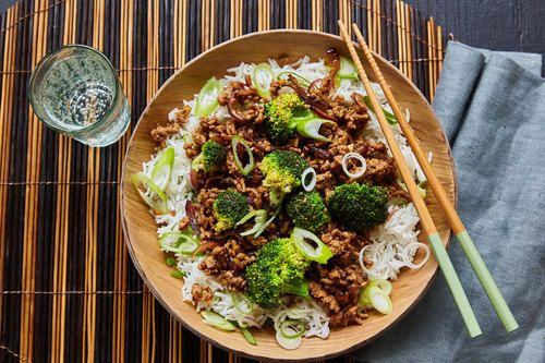 Chinese roerbak met gehakt,