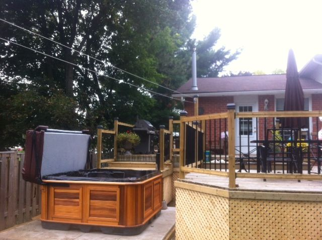 Another beautiful Arctic Spas Hot Tub installed by Arctic Spas Barrie