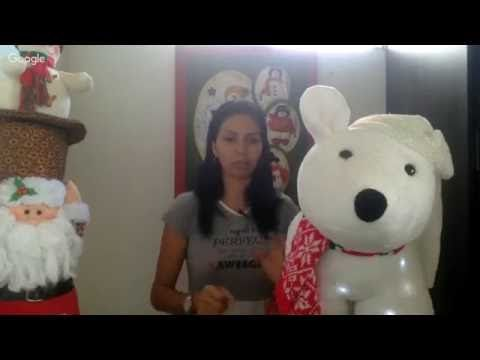 OSO POLAR CON LUCES | DECORACION NAVIDEÑA|ARTE JESICA - YouTube