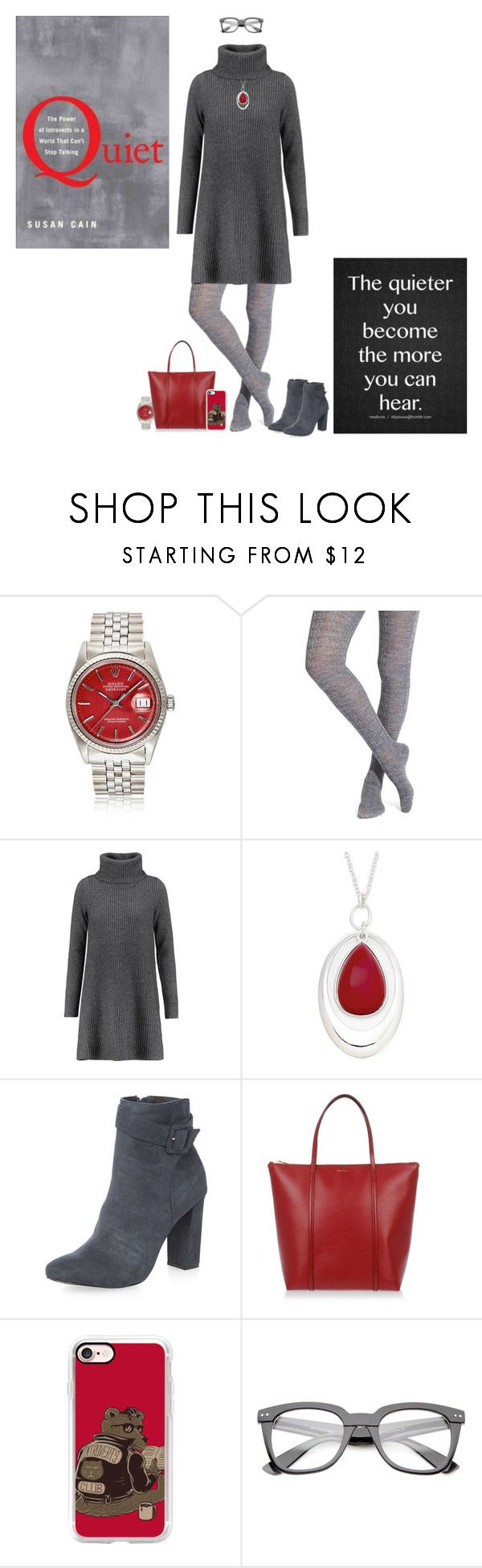 """""""Q is for Quiet by Susan Cain"""" by tracy-gowen ❤ liked on Polyvore featuring Smartwool, Madeleine Thompson, Liz Claiborne, Dorothy Perkins, Dolce&Gabbana and Casetify"""