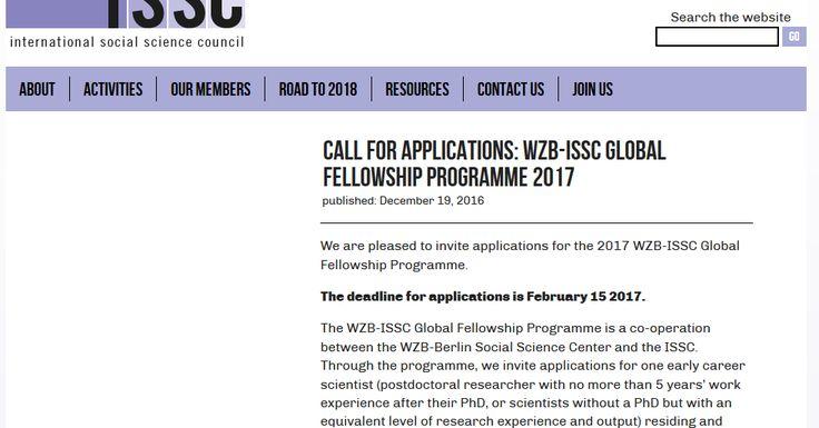 The WZB-ISSC Global Fellowship
