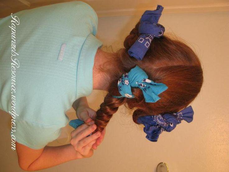 Bandana Curls or Rag Curls for Long Hair | Rapunzel's Resource