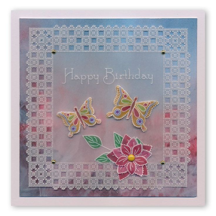 Tina's 3D Flowers & Butterflies Groovi Plate A4 Square – Claritystamp