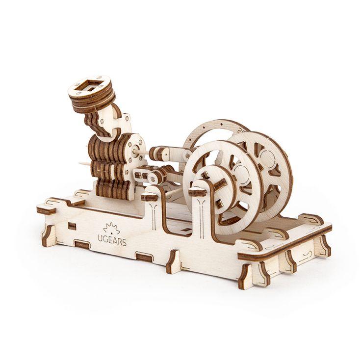 Двигатель UGEARS - это механический 3D пазл из дерева. Оригинальный и экологичный конструктор для детей и взрослых.