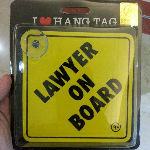 Lawyer vehicle sign