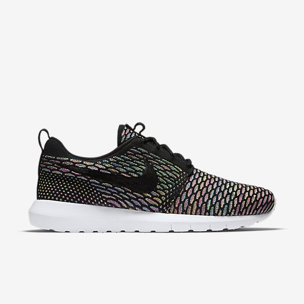 Roshe Flyknit Black/Black/Pink Pow/Blue Glow | Super dope. Nike Men's  ShoesShoes ...