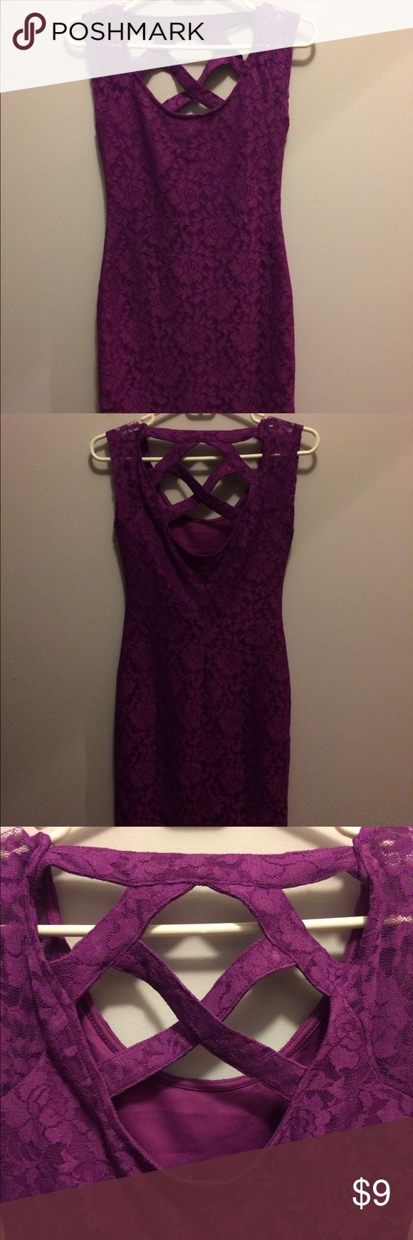 Pacsun Bodycon Lace Dress It's a beautiful purple laced dress. It's a small but it should be extra small. Only worn twice! 💋 PacSun Dresses Mini