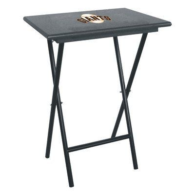 86-2012 MLB Team: San Francisco Giants Features: -Show your team spirit by having your team's logo displayed proudly on your snack tables. Includes: -Includes 4 tables and 1 storage rack. Color/Finish: -Finish: Black. Dimensions: -31'' H x 18'' W x 12''... more details available at https://furniture.bestselleroutlets.com/game-recreation-room-furniture/tv-trays/product-review-for-mlb-tv-tray-set-set-of-4-mlb-team-san-francisco-giants/