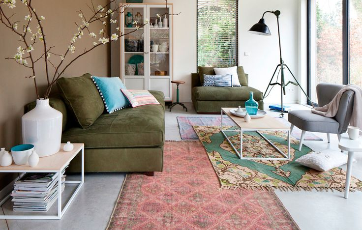 vtwonen collection 2014-2015 photographer: Jansje Klazinga stylist: Frans Uyterlinde #vtwonen #magazine #interior #collection #livingroom #carpet #green
