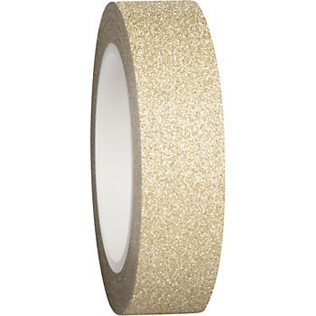 Luxe Gold Glitter Tape - I'd love to use this to cover the ugly edges of my shelves in my office closet.