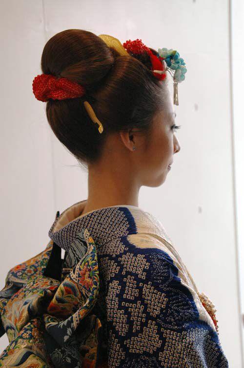 New school hair arrangement for Kimono 新日本髪