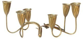 Napier Midcentury Candleholders, Pair | The New Dixie | One Kings Lane