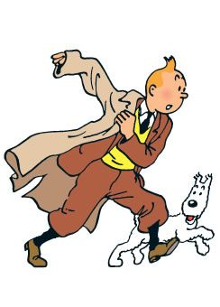 Tintin....I grew up reading comic books about him & his sweet little dog!
