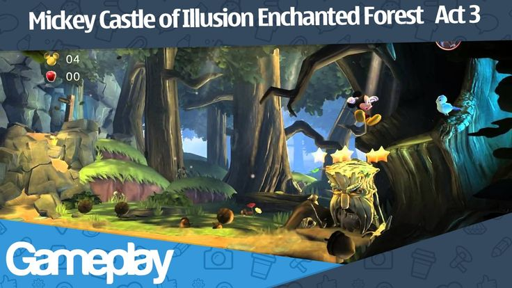 Mickey Castle of Illusion Enchanted Forest   Act 3